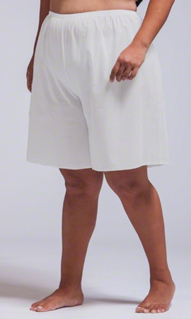 Split Solid Cotton Lawn Slip Short