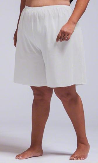 Split Solid Cotton Lawn Slip Short