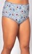 Printed Cotton Jersey Lace Trim Underwear