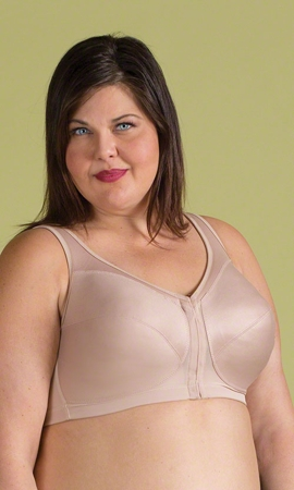 Magic Lift Posture Back Solid Plus Size Bra C-Cup to G-Cup