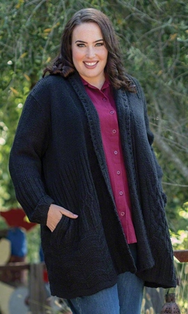 Cambridge Solid Long Sleeve Knitted Plus Size Cardigan 2X-8X