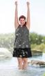 Polka Dot Chlorine Resistant Swim Top