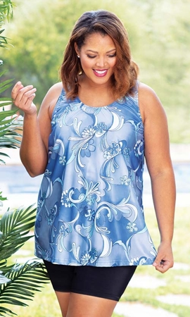 Artemis Sleeveless Plus Size Top 2X-8X