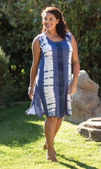 Sale Embroidered Beaded Sleeveless Sunniva Sundress