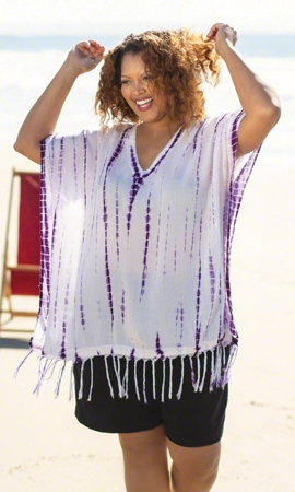 Gloria Short Sleeve Plus Size Cover Up 1X-8X