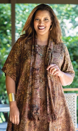 Sale Madras Rayon Batik Scarf