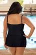 Chlorine Resistant Aquamore Plus Size Princess Seam Skater Swimdress