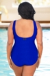Aquatex by Aquamore Chlorine Resistant Azure Plus Size High Neck One Piece Textured Swimsuit