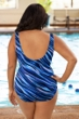 Chlorine Resistant Aquamore Synergy Plus Size High Neck One Piece
