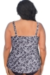 Always For Me Solid Plus Size High Neck Tankini Top