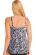 Always For Me White Scroll Plus Size Ruched A-Line Tankini Top