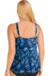 Always For Me Blue Palms Plus Size Ruched A-Line Tankini Top