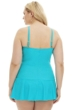Always For Me Turquoise Plus Size Illusion One Piece Swimsuit