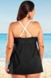 Always For Me Black and White Plus Size Selene Swimdress