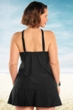 Always For Me Black Plus Size Siren Tankini Top with Matching Tankini Bottom