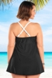 Always For Me Black and White Plus Size Demeter Swimdress
