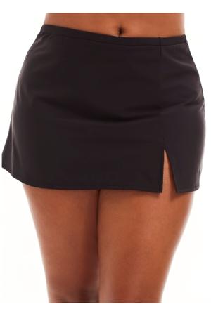 Always For Me by Penbrooke Black Plus Size Swim Skirt