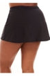 Always For Me by Penbrooke Black Plus Size Swim Skirt