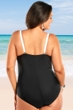 Always For Me Black and White Plus Size Mykonos One Piece Swimsuit