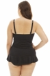 Always For Me Black Plus Size Isabella Twist Front Bandeau Strapless Shirred Tankini Top with Matching Tankini Bottom