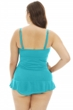 Always For Me Peacock Plus Size Isabella Twist Front Bandeau Strapless Shirred Tankini Top with Matching Tankini Bottom