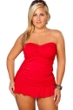 Always For Me Red Plus Size Isabella Tankini Top