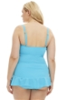 Always For Me Turquoise Plus Size Isabella Tankini Top with Matching Tankini Bottom