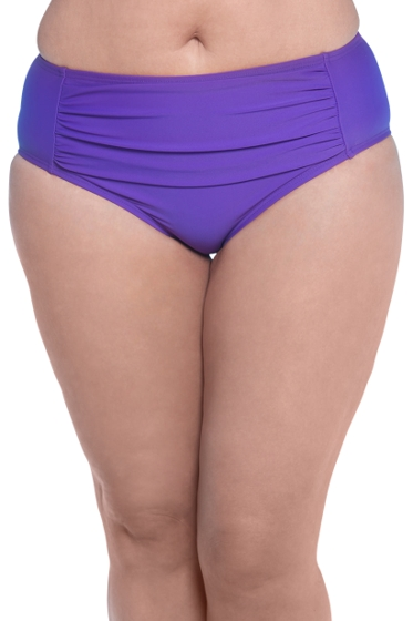 Always For Me Grape Plus Size Ruched Tankini Bottom