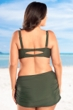 Always For Me Olive Color Block Plus Size Bikini Top with Matching Bikini Bottom