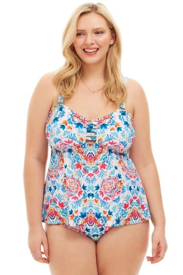 Always For Me Festival Plus Size Tankini Top with Matching Tankini Bottom