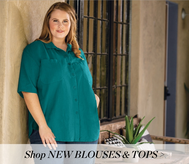 Shop New Plus Size Blouses & Tops - 4X to 8X Women's Plus Size Clothing on SALE