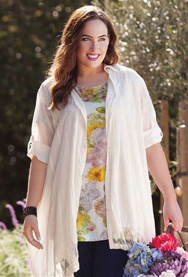 DOVE DUSTER - TAKE AN EXTRA 20% OFF PLUS SIZE CLOTHING