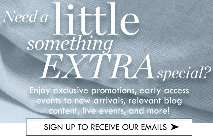 Sign up for ON THE PLUS SIDE Newsletter Email - Enjoy exclusive promotions, early access events to new arivals, relevant blog content, live events, and more!