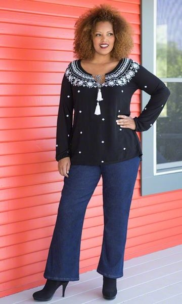 Plus Size Baby Boot Cut Jeans