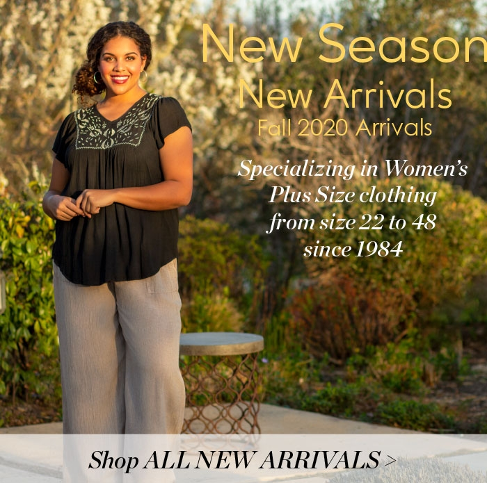 4X to 8X Women's Plus Size Clothing on SALE - Shop All New Arrivals - Plus Size Styles in sizes 22 to 48